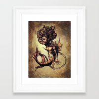 seahorse Framed Art Prints featuring SEAHORSE by Tim Shumate