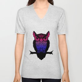 Bi Owl Unisex V-Neck