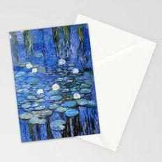 waterlilies a la Monet Stationery Cards