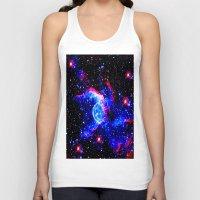 nebula Tank Tops featuring Nebula  by Saundra Myles