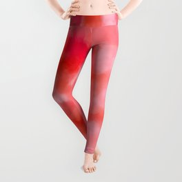 Blush Cream Coral Floral Abstract Leggings