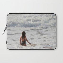 Breaking wave and girl Laptop Sleeve