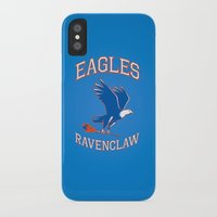 ravenclaw iPhone & iPod Cases featuring Eagles Ravenclaw by Fresco Umbiatore
