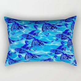 Mandala Swim Fish Rectangular Pillow