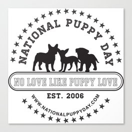 National Puppy Day Canvas Print