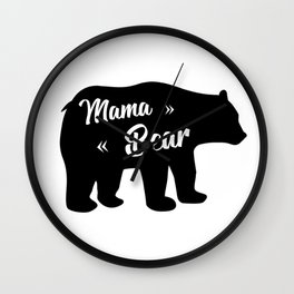 Mama Bear Wall Clock