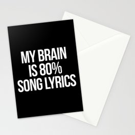 Song Lyrics Funny Quote Stationery Cards