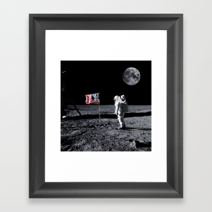 The Great Conspiracy: The Moon Is a Lie Framed Art Print