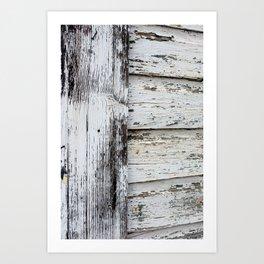 White Paint Art Print