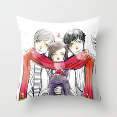 Jem, Tessa and Will Throw Pillow