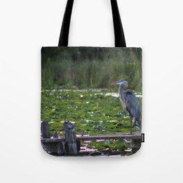 Heron on Deck Tote Bag
