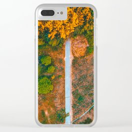 beautiful nature scene in a park - picture taken by a drone Clear iPhone Case