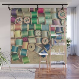 Cotton Reels Wall Mural