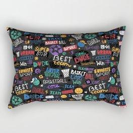 Basketball pattern. Little star. Rectangular Pillow