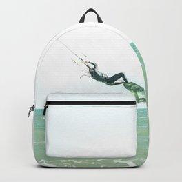 kitesurfing woman  Backpack
