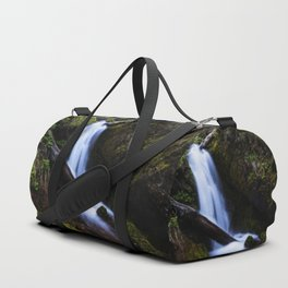 Waterfall in enchanted forest Duffle Bag