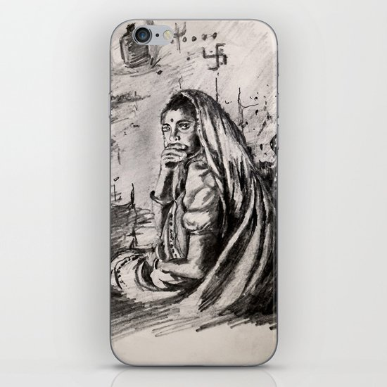 Pencil Sketch iPhone & iPod Skin