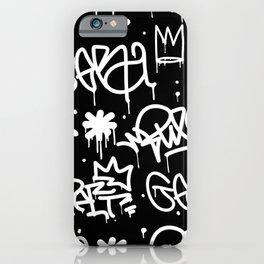 Black and White Graffiti iPhone Case