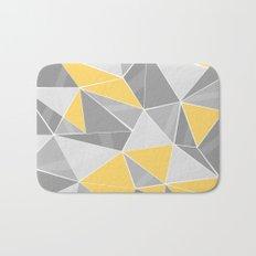 Pattern, grey - yellow Bath Mat