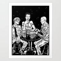 bar Art Prints featuring bar by Evan R. Spears