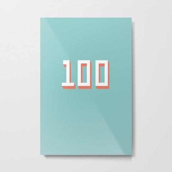 The 100 Metal Print