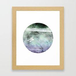 Stormy Flight Framed Art Print