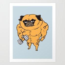 Buff Pug Art Print