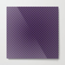 Royal Lilac and Black Polka Dots Metal Print