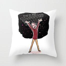 Carl Sagan Throw Pillow