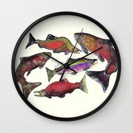 Salmon Fish Chart Wall Clock