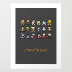 Mega Star Wars: Episode II - Attack of the Clones Art Print