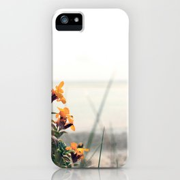 Lindisfarne beach iPhone Case