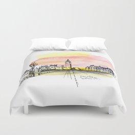 London, Big Ben. Watercolor and ink. Duvet Cover
