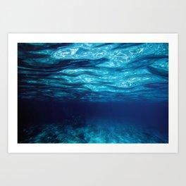 Blue Underwater Art Print