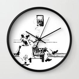 A Smoke Wall Clock