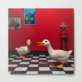The Rest Stop Ducks & The Gumball Machine Metal Print