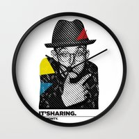 keith haring Wall Clocks featuring Haring by It'sMonty.