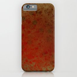 Grunge red brown iPhone Case