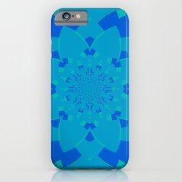 Blue Flower Kaleidoscope iPhone Case