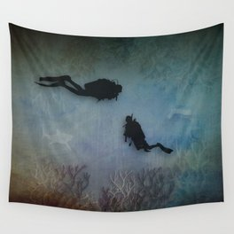 Scuba Divers Wall Tapestry