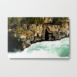 Kootenai River Through a Canyon Metal Print