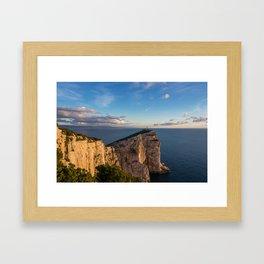 Lighthouse of Capo Caccia Framed Art Print