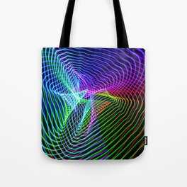 Triangle vortex light painting Tote Bag
