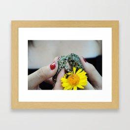 Frogs In Love Framed Art Print