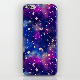 Zodiac - Watercolor Dark iPhone Skin
