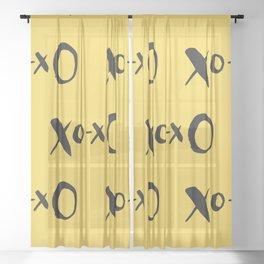 Kisses XOXO Lemon Zest Sheer Curtain