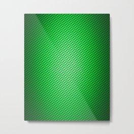 Green Carbon Fiber Metal Print