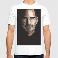 Steve Jobs Mens Fitted Tee MEDIUM White