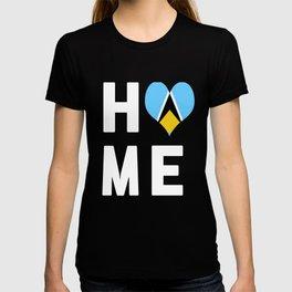 Saint Lucia Is My Home T Shirt T-shirt