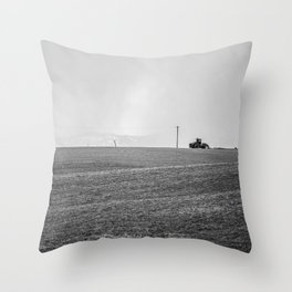 Winter farming Throw Pillow